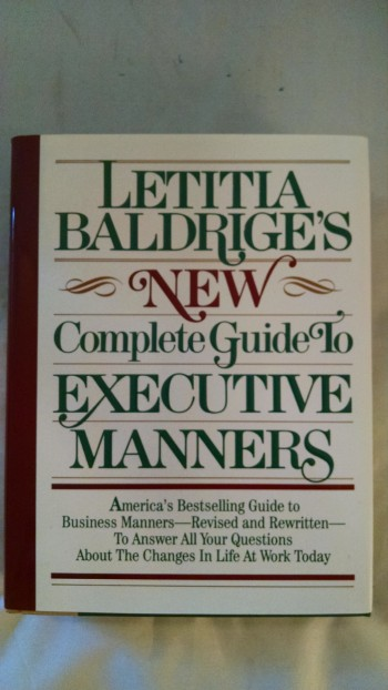 Image for NEW COMPLETE  GUIDE TO EXECUTIVE MANNERS