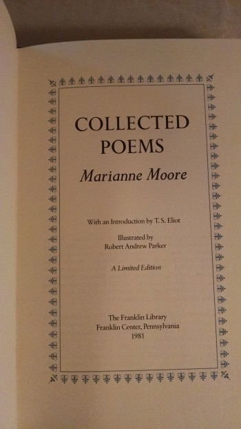 Image for COLLECTED  POEMS MARIANNE MOORE