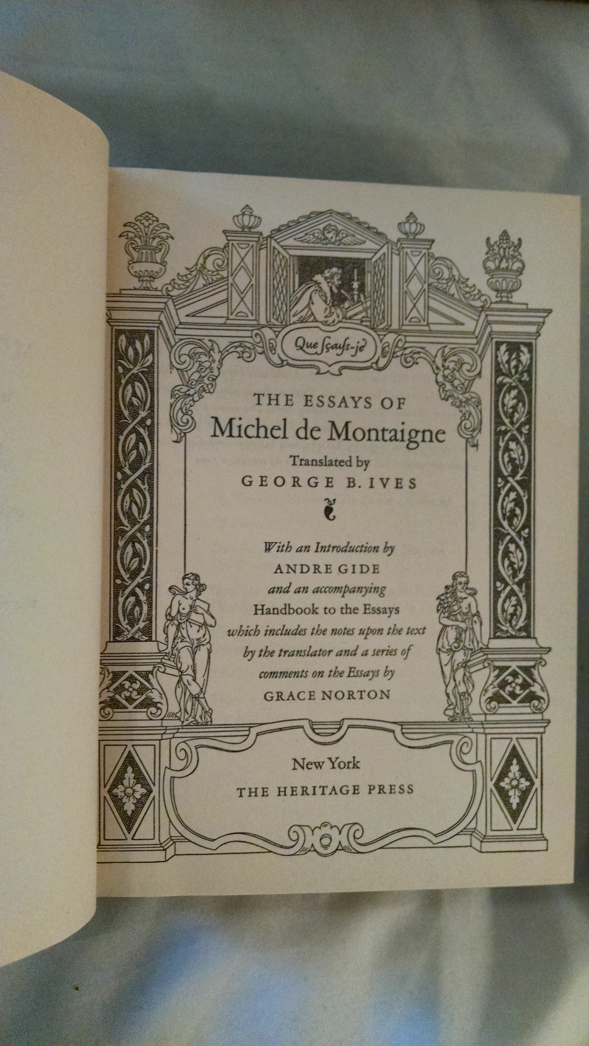 Image for THE ESSAYS OF MICHEL DE MONTAIGN