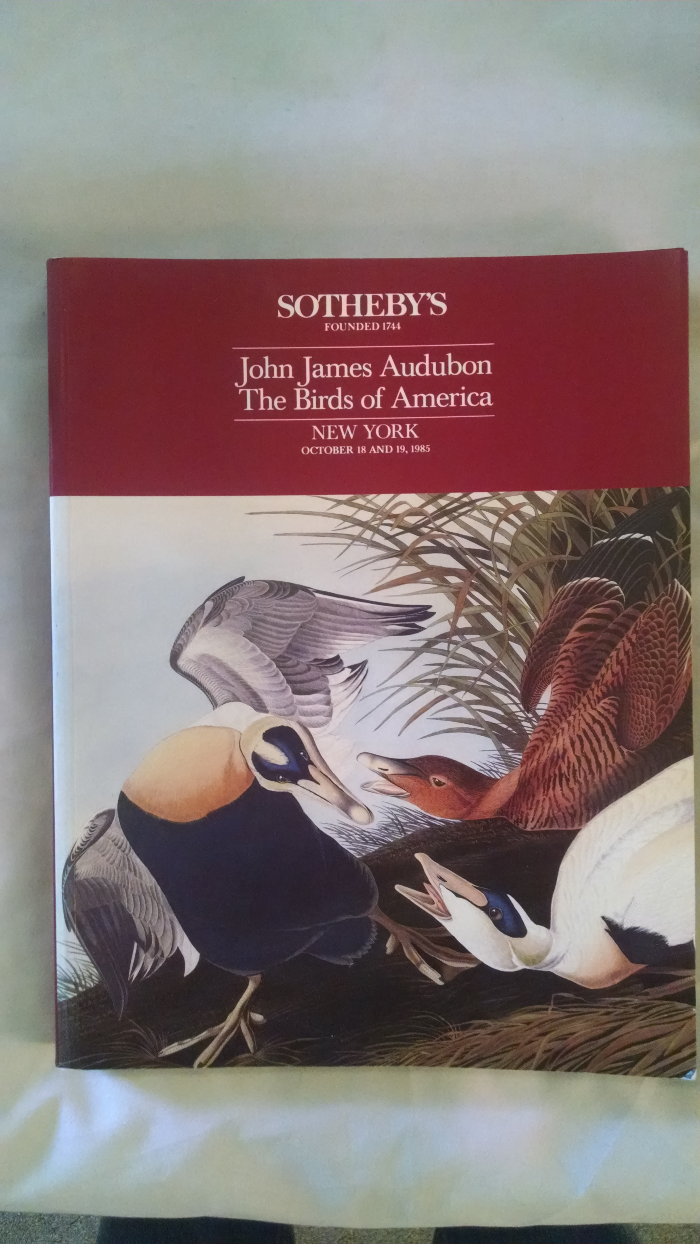 Image for JOHN JAMES AUDUBON  THE BIRDS OF AMERICA AUCTION CATALOG