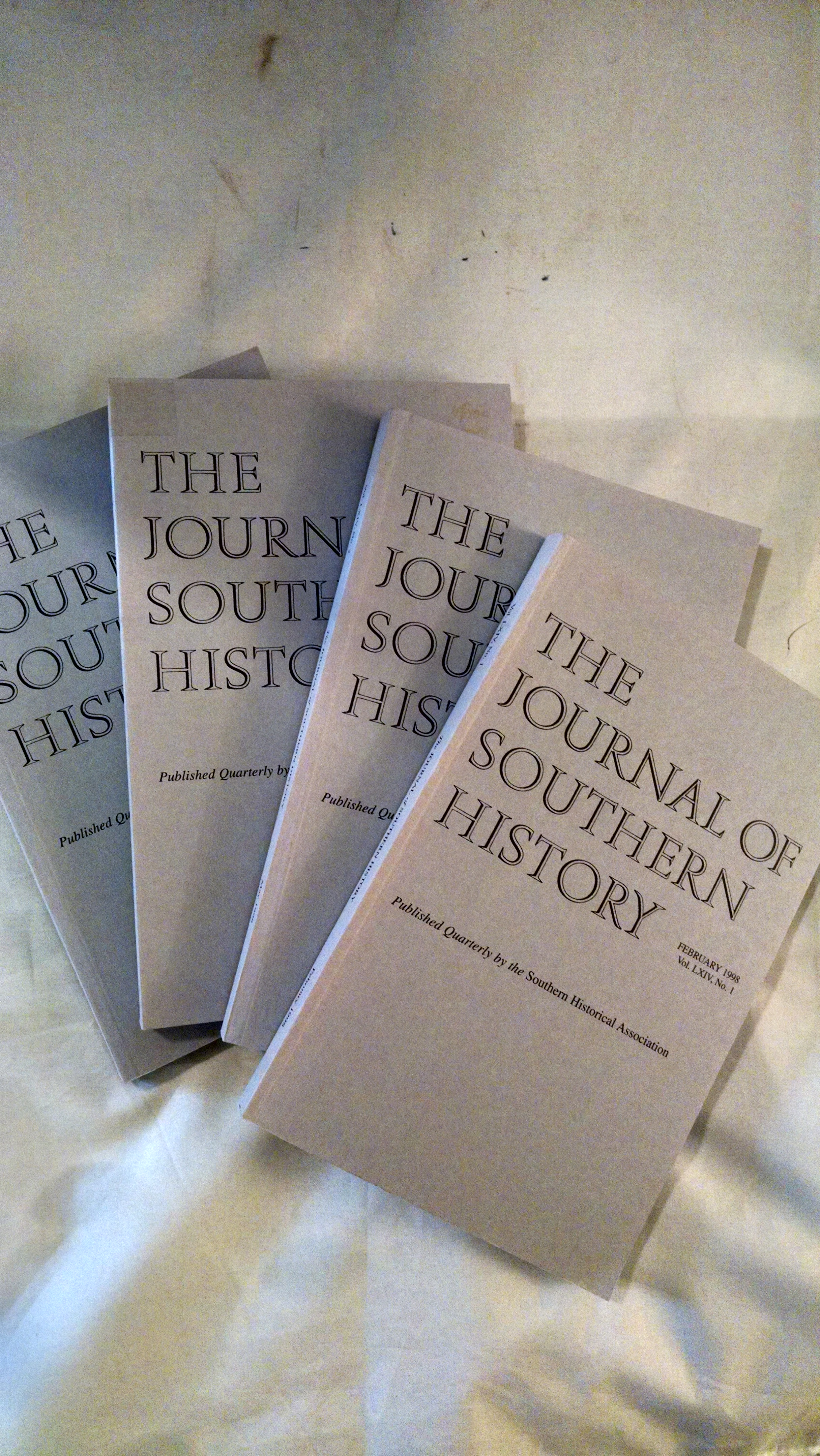 Image for JOURNAL OF SOUTHERN HISTORY  FULL YEAR 1998