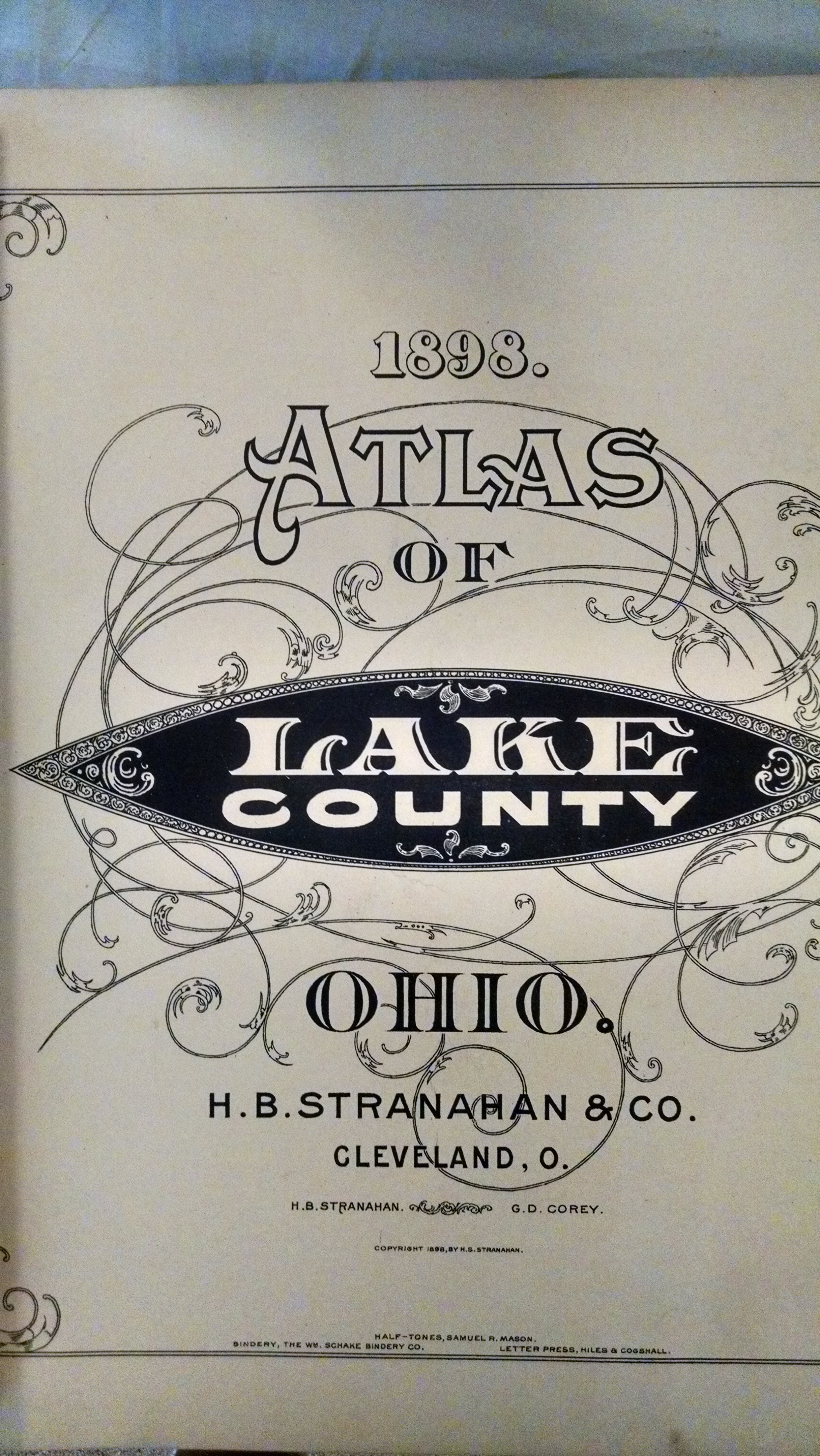 Image for 1898  ATLAS OF LAKE COUNTY OHIO