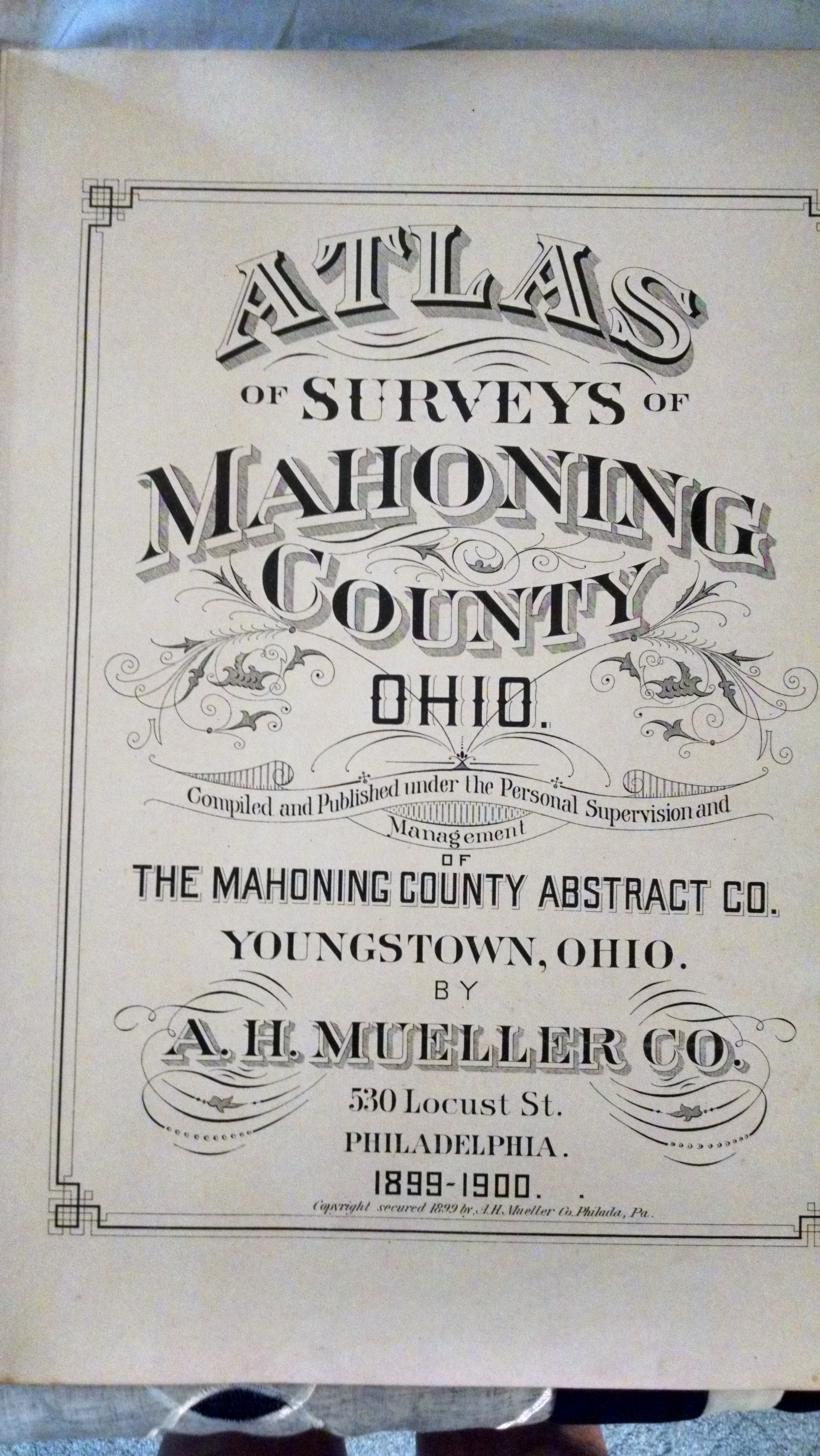 Image for ATKAS OF SURVEYS OF MAHONING COUNTY OHIO