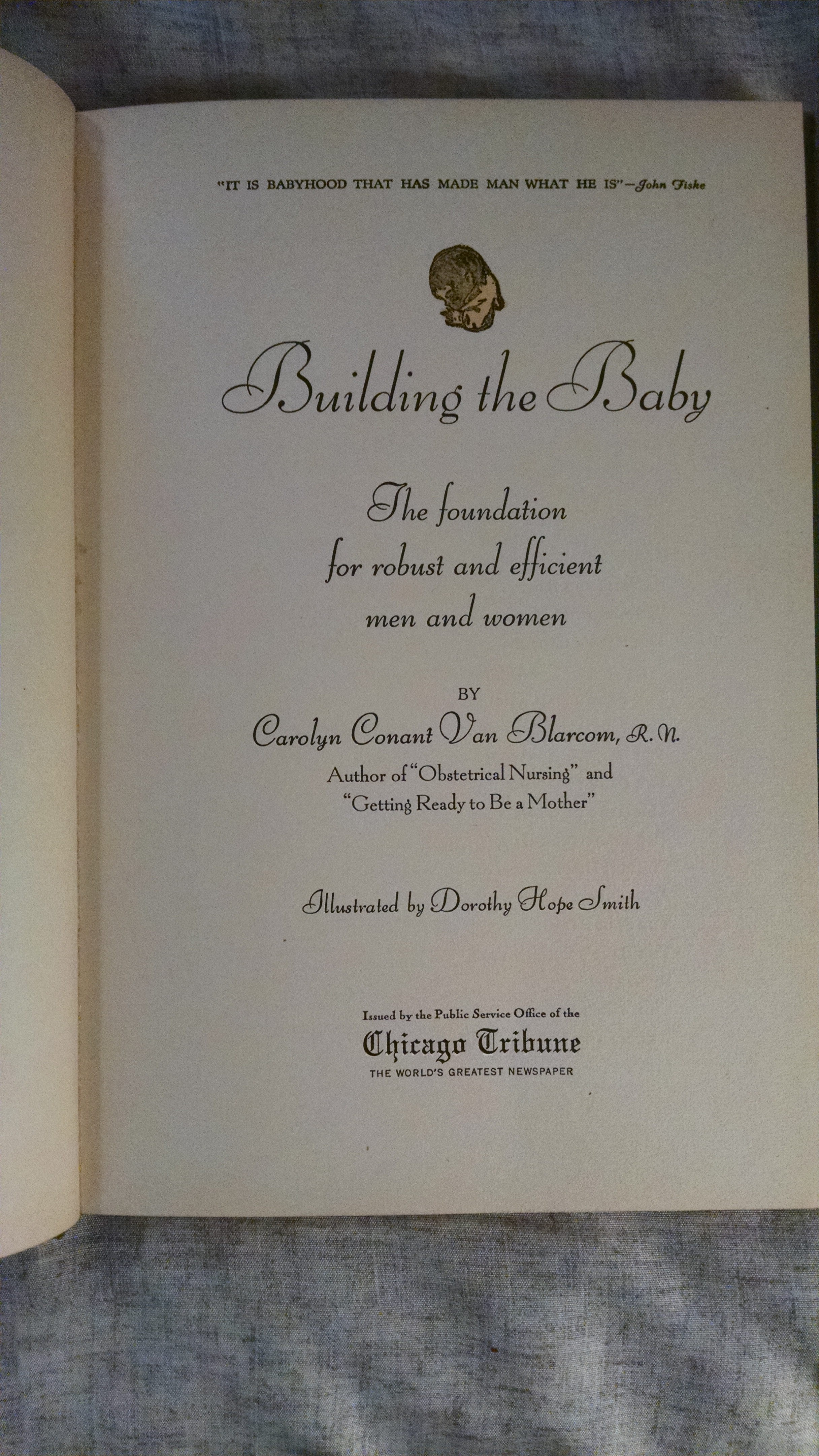 Image for BUILDING THE BABY  THE FOUNDATION FOR ROBUST AND EFFICIENT MAN AND WOMEN