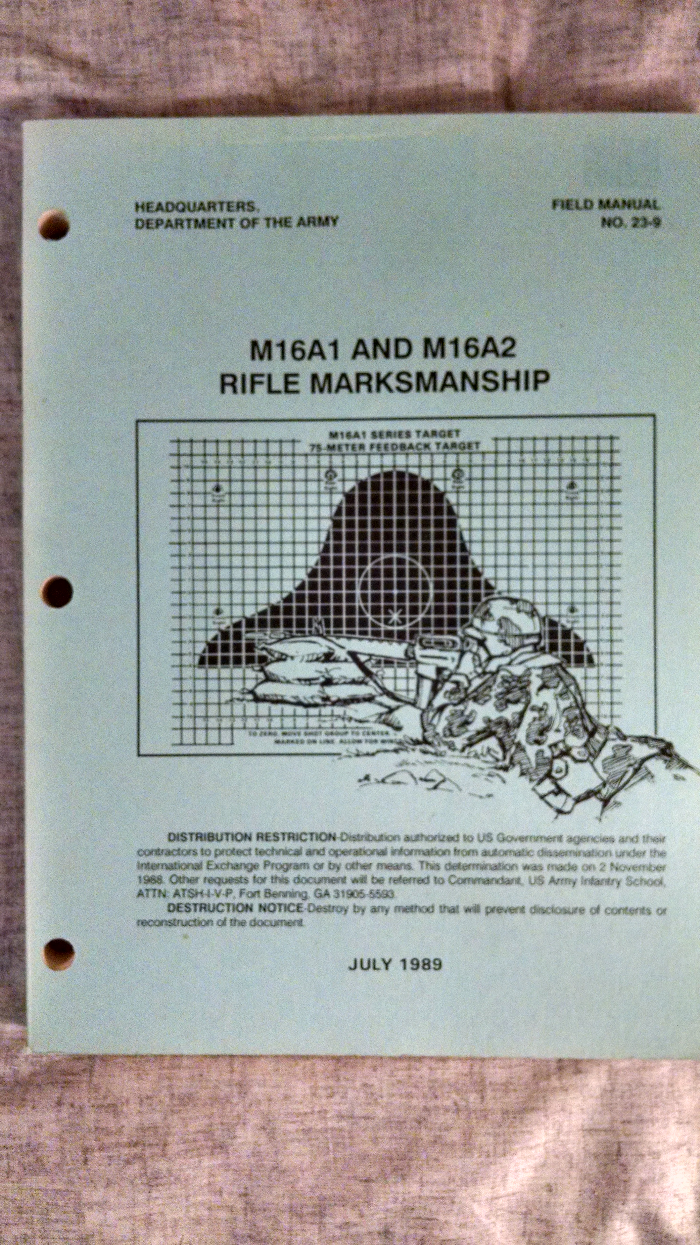 Image for M16A1 AND M16A2 RIFLE MARKSMANSHIP  ARMY FIELD MANUAL 23-9