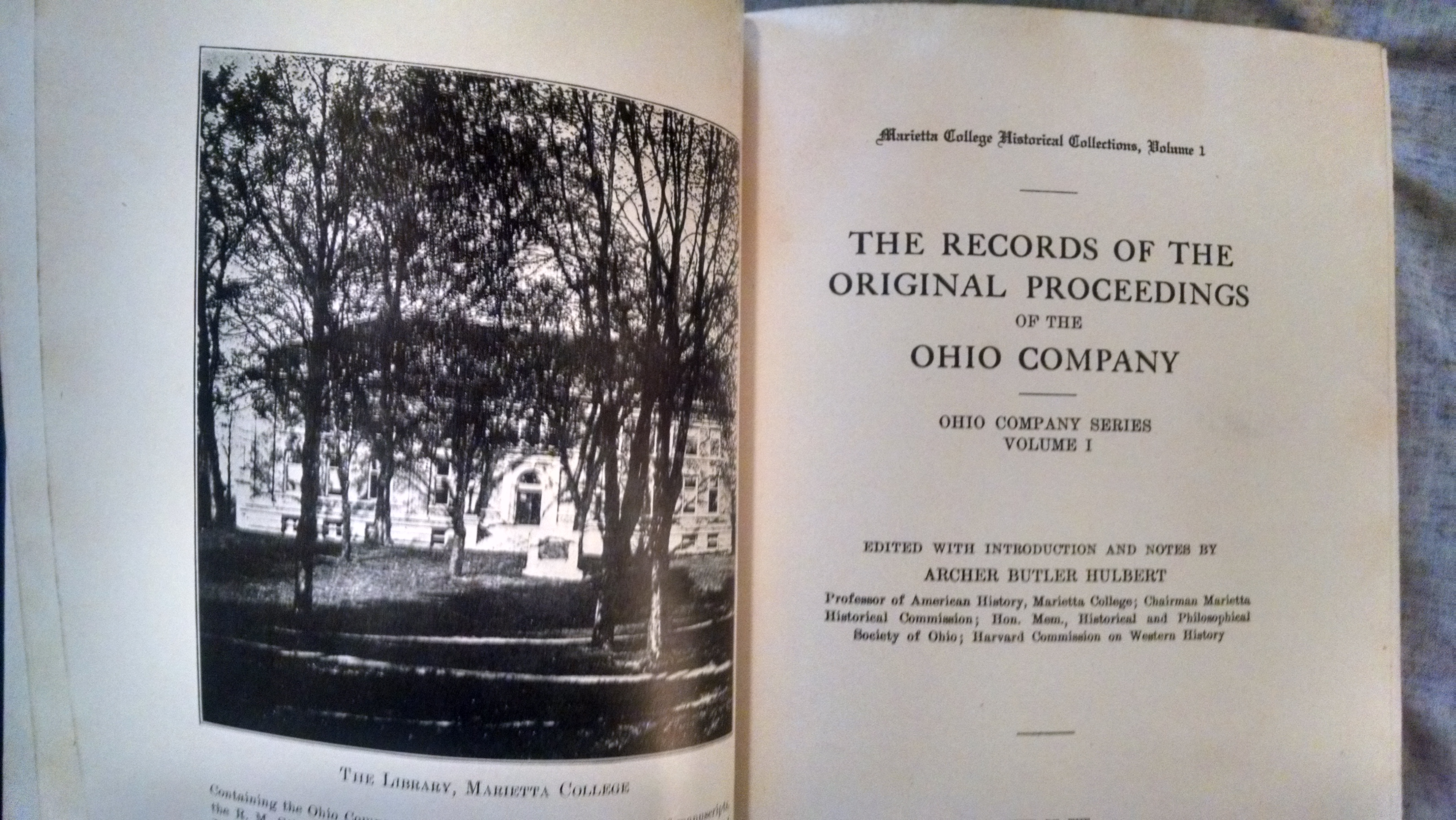 Image for THE RECORDS OF THE ORIGINAL  PROCEEDINGS OF THE OHIO COMPANY VOLS. 1,2,3