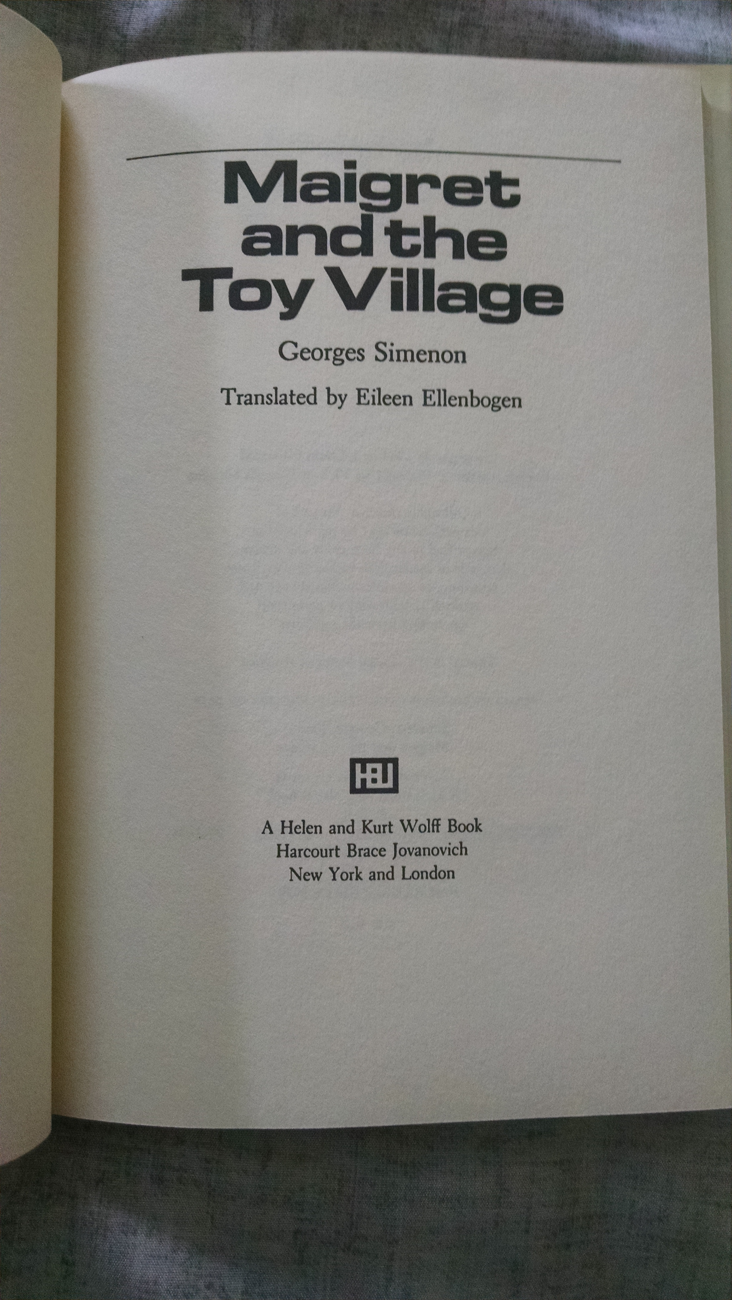 Image for MAIGRET  AND THE TOY VILLAGE