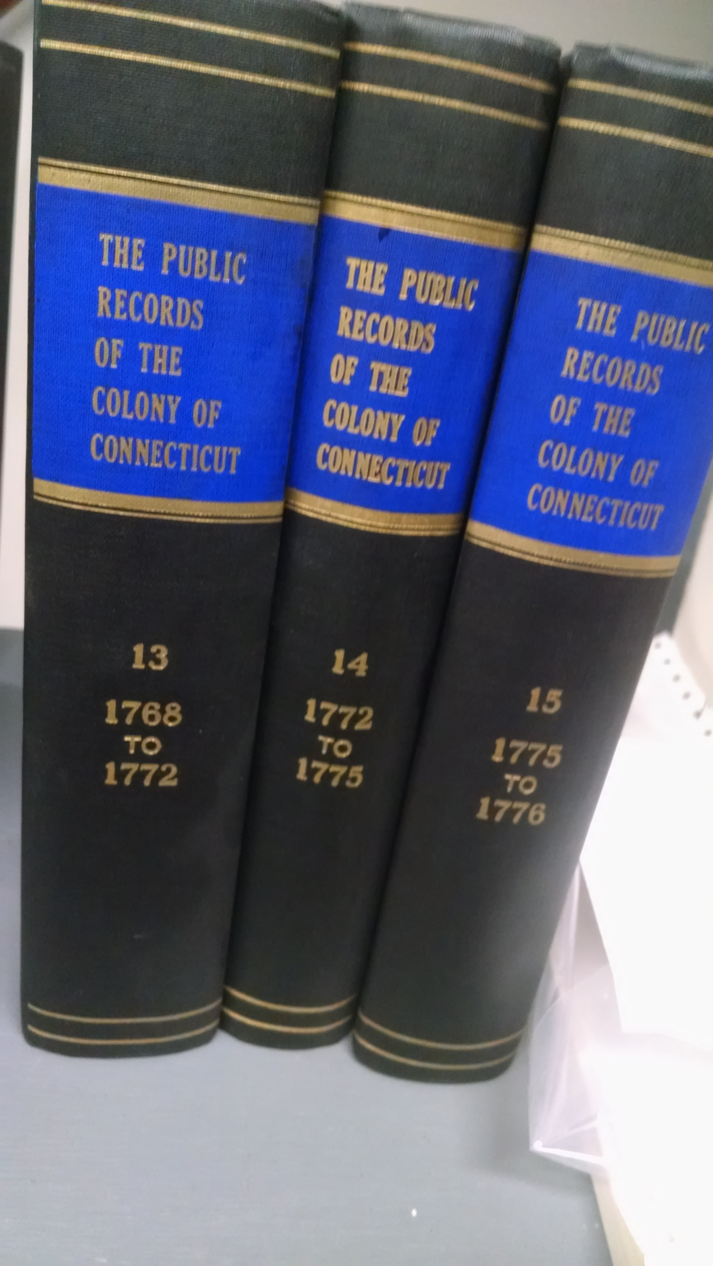 Image for THE PUBLIC RECORDS OF THE COLONY OF CONNECTICUT   15 VOL SET 1968