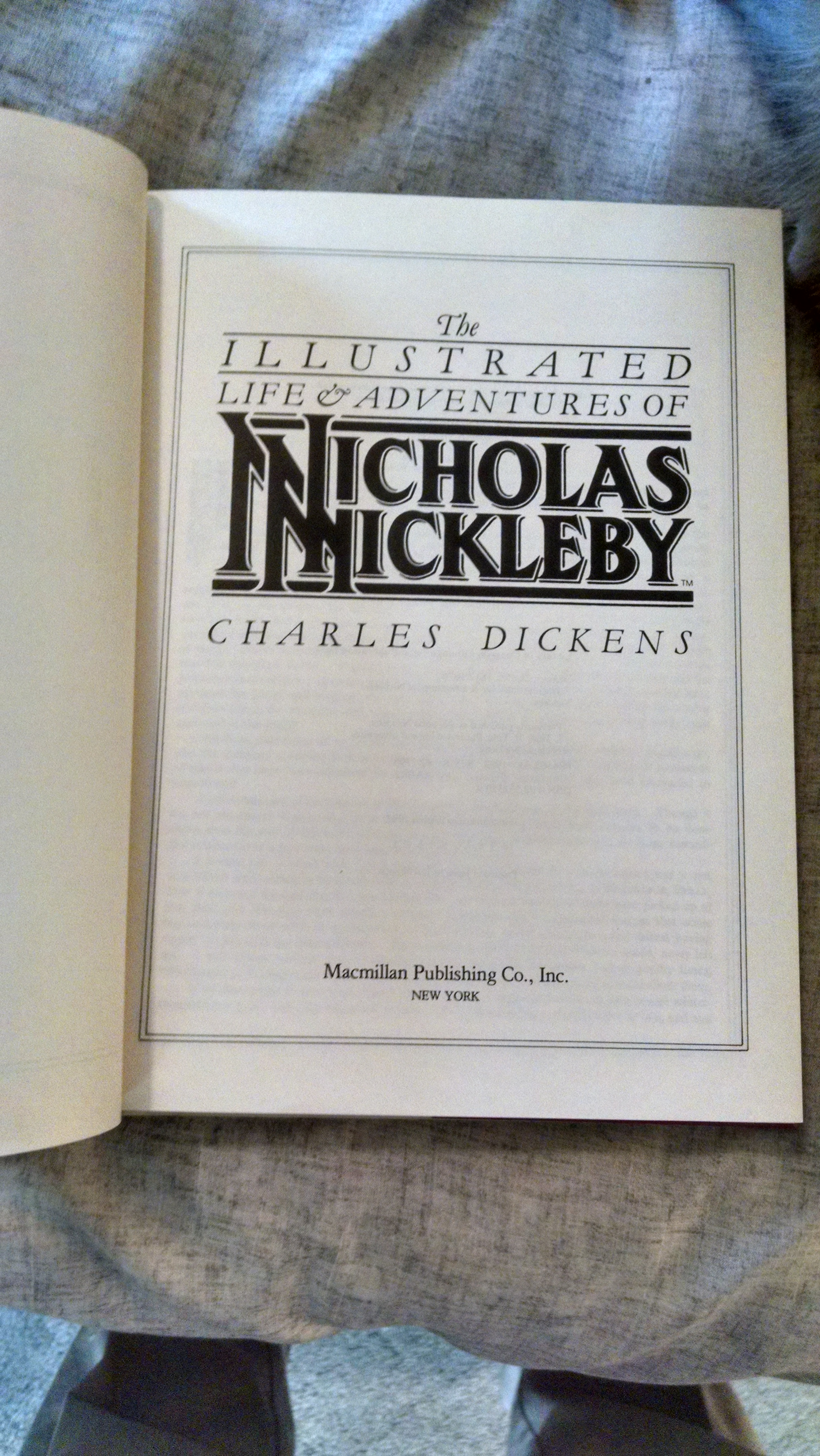 Image for THE ILLUSTRATED LIFE AND ADVENTURESOF NICHOLAS NICKLEBY