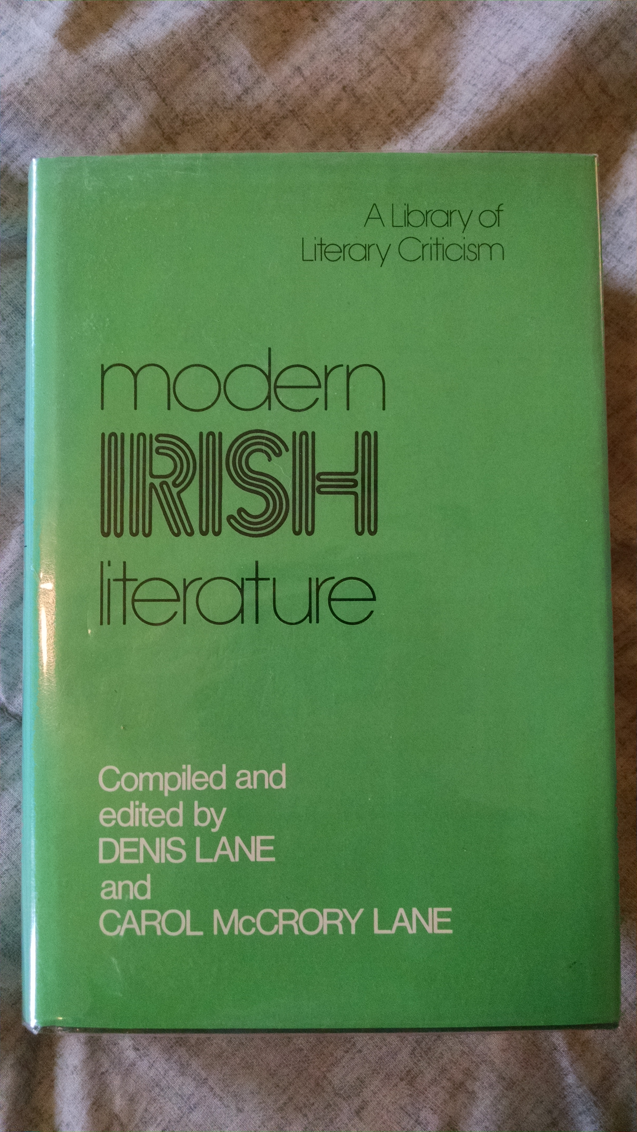 Image for MODEREN IRISH LITERATURE