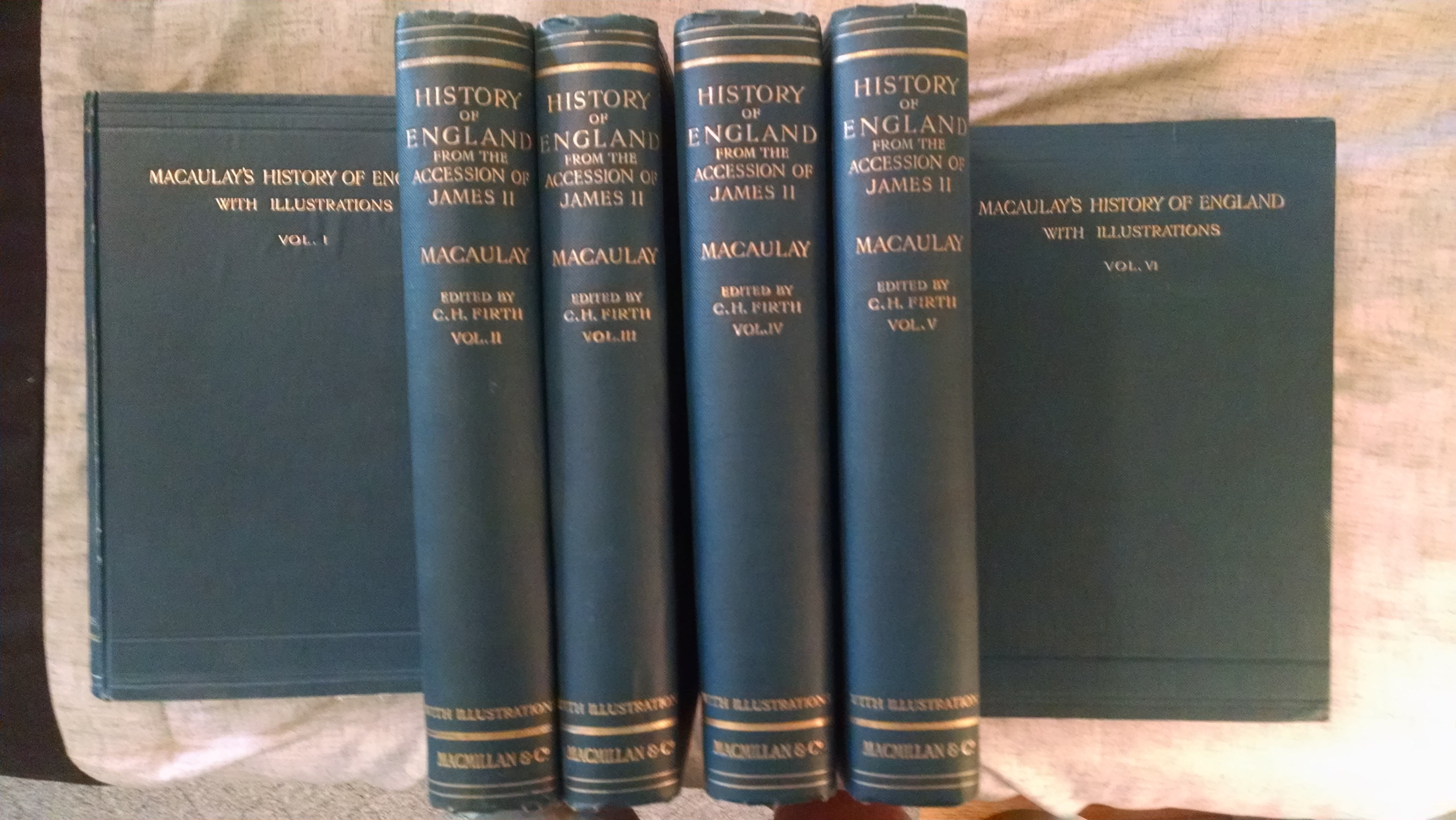 Image for THE HISTORY OF ENGLAND    COMPLETE 6 VOL SET