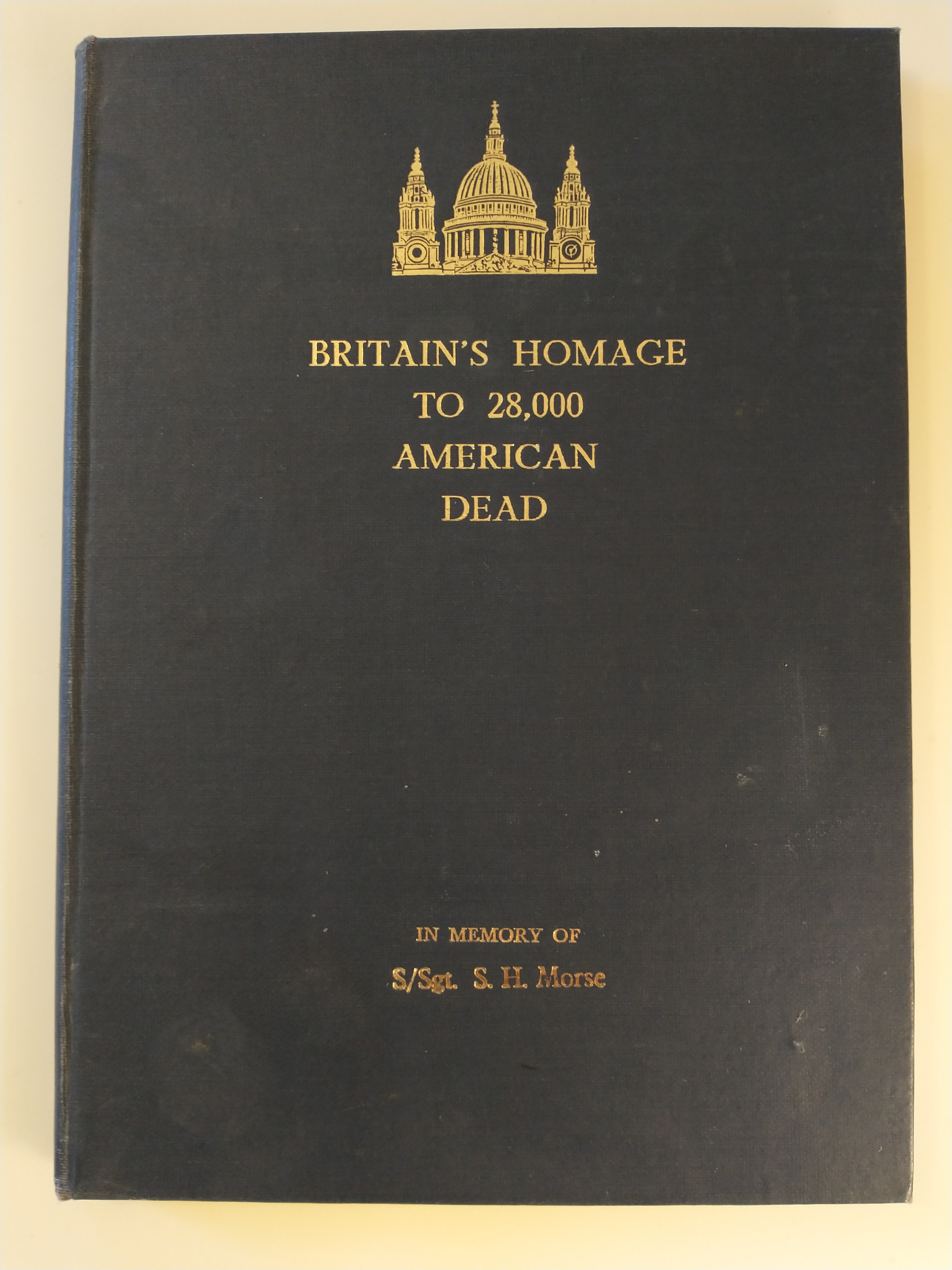 Image for BRITAIN'S HOMAGE TO 28000AMERICAN DEAD