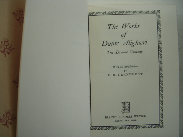 Image for The Works of Dante Alighieri; The Divine Comedy
