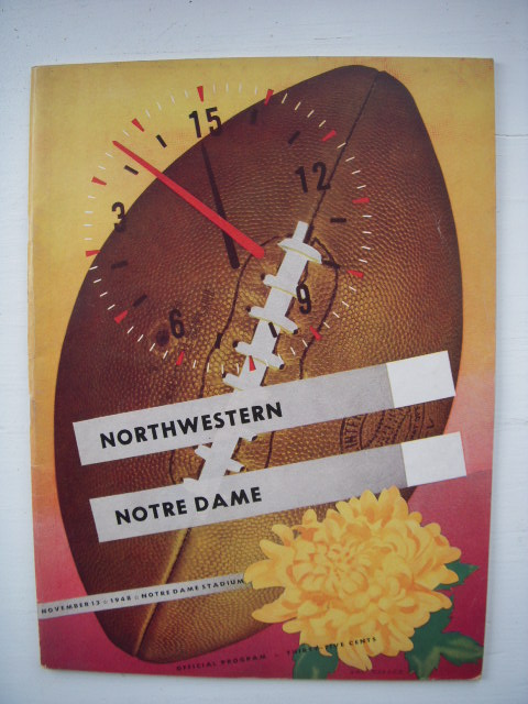 Image for Northwestern Versus Notre Dame 1948 Football Program