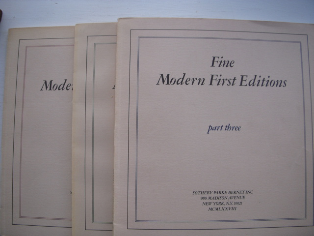Image for The Collection of Jonathan Goodwin;  Important & Fine Modern First Editions. With Autograph Letters & Manuscripts of Ernest Hemingway & Others  (three volume set)