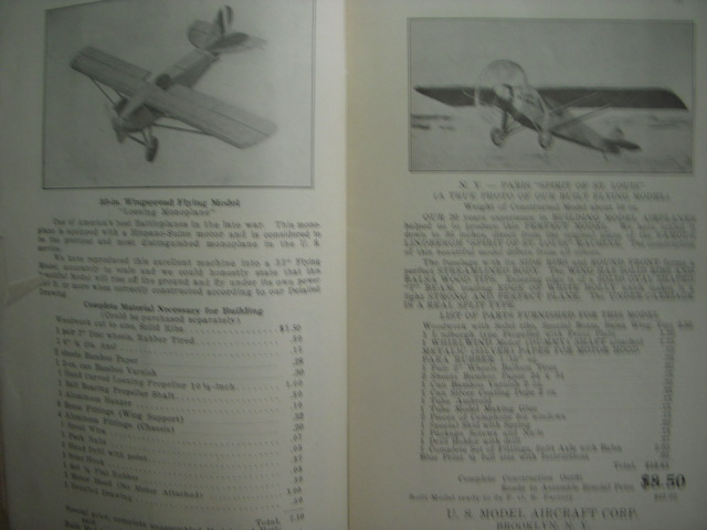 Image for U.S. Model Aircraft Corporation Catalog Flying Model Airplanes Supplies & Accessories 1928