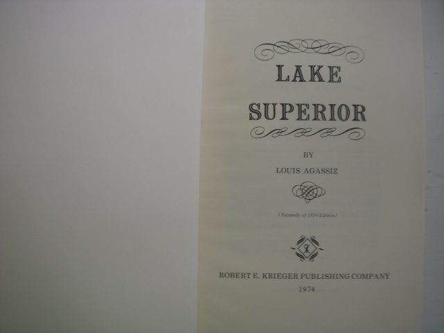 Image for Lake Superior: Its Physical Character, Vegetation & Animals