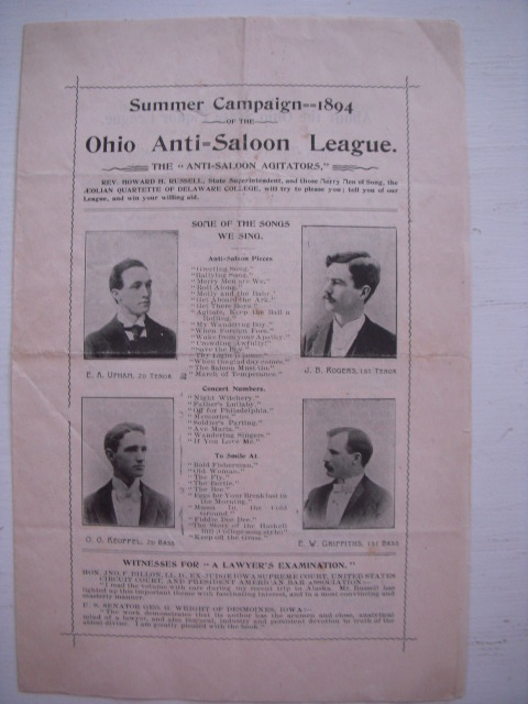 Image for Summer Campaign 1894 Ohio Anti-Saloon League Brochure