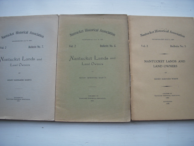 Image for Nantucket Lands and Owners Volume 2. Bulletins 2,3,4,5, 6, 7  (six volumes)